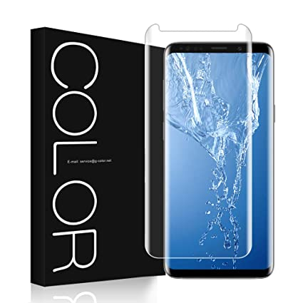 G-Color Screen Protector for Samsung Galaxy S9,[Updated Version] [3D  Glass][Full Adhesive][High Response][Case Friendly] Tempered Glass Screen