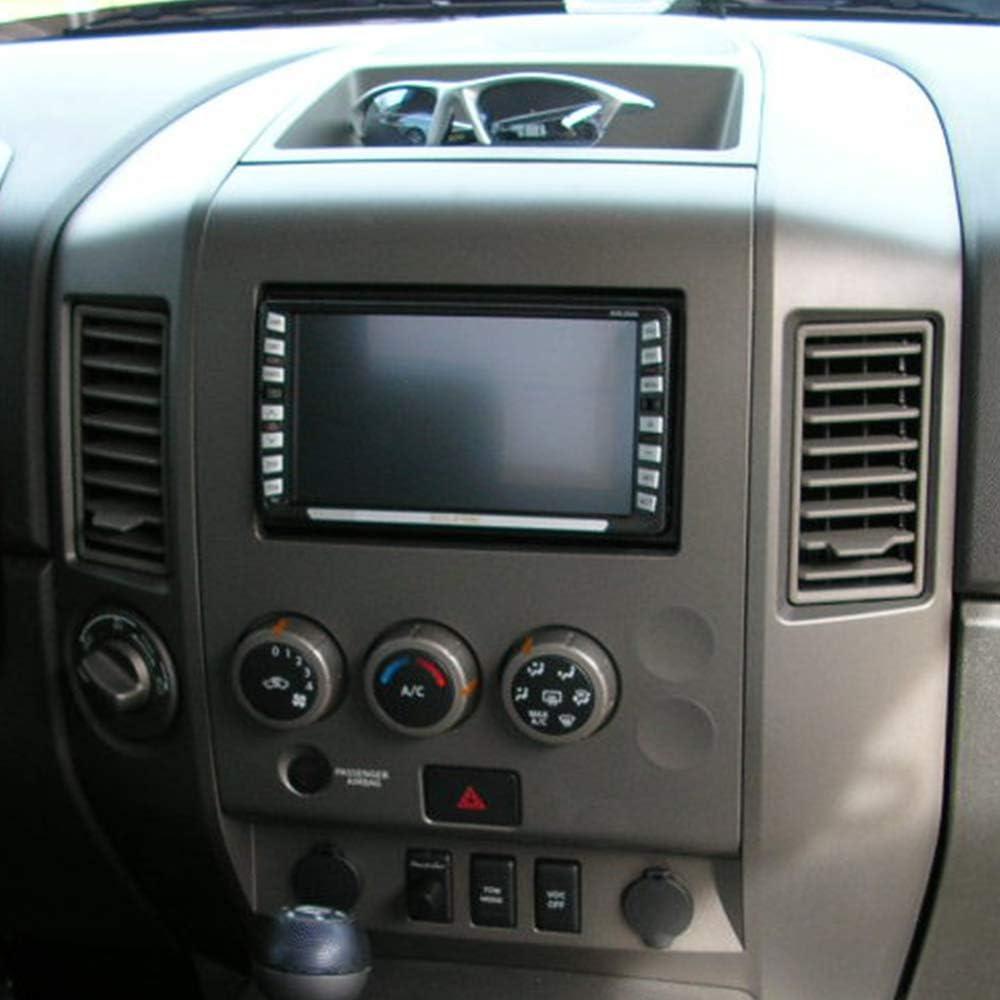 Center Dash Radio AC Finisher Surround Bezel WITH Center Speaker For Nissan Titan SE /& XE//Armada SE 2004 2005 2006 Replaces 68257-7S000