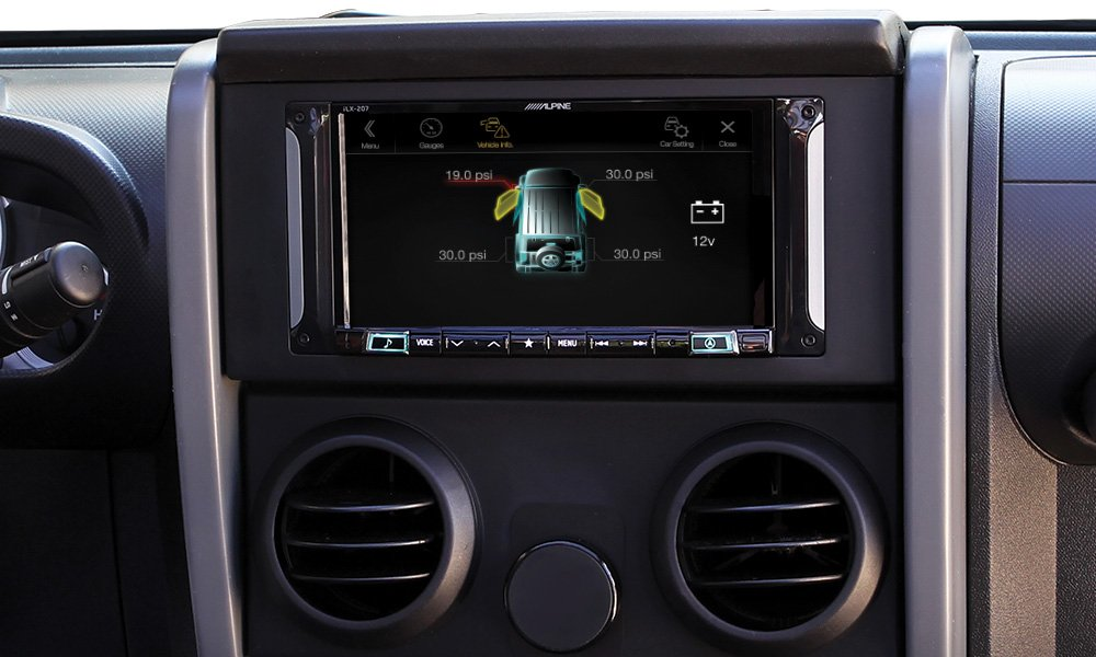 Alpine Electronics i207-WRA 7'' Mech-Less Restyle Dash System with Apple Car Play & Android Auto for Jeep Wrangler (2007-2017)