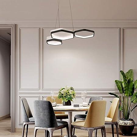HYLH Diseñador Moderno LED Lámpara Colgante Mesa Comedor Sala ...