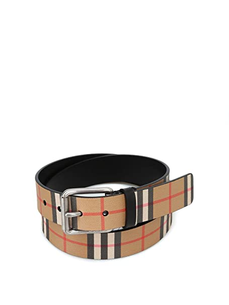 sito affidabile 8c7ae da9c1 Burberry Cintura Uomo 4074824 Pelle Marrone: Amazon.it ...