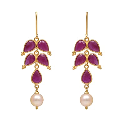 71933551a Buy Joyalukkas 22k Yellow Gold Drop Earrings Online at Low Prices in India    Amazon Jewellery Store - Amazon.in