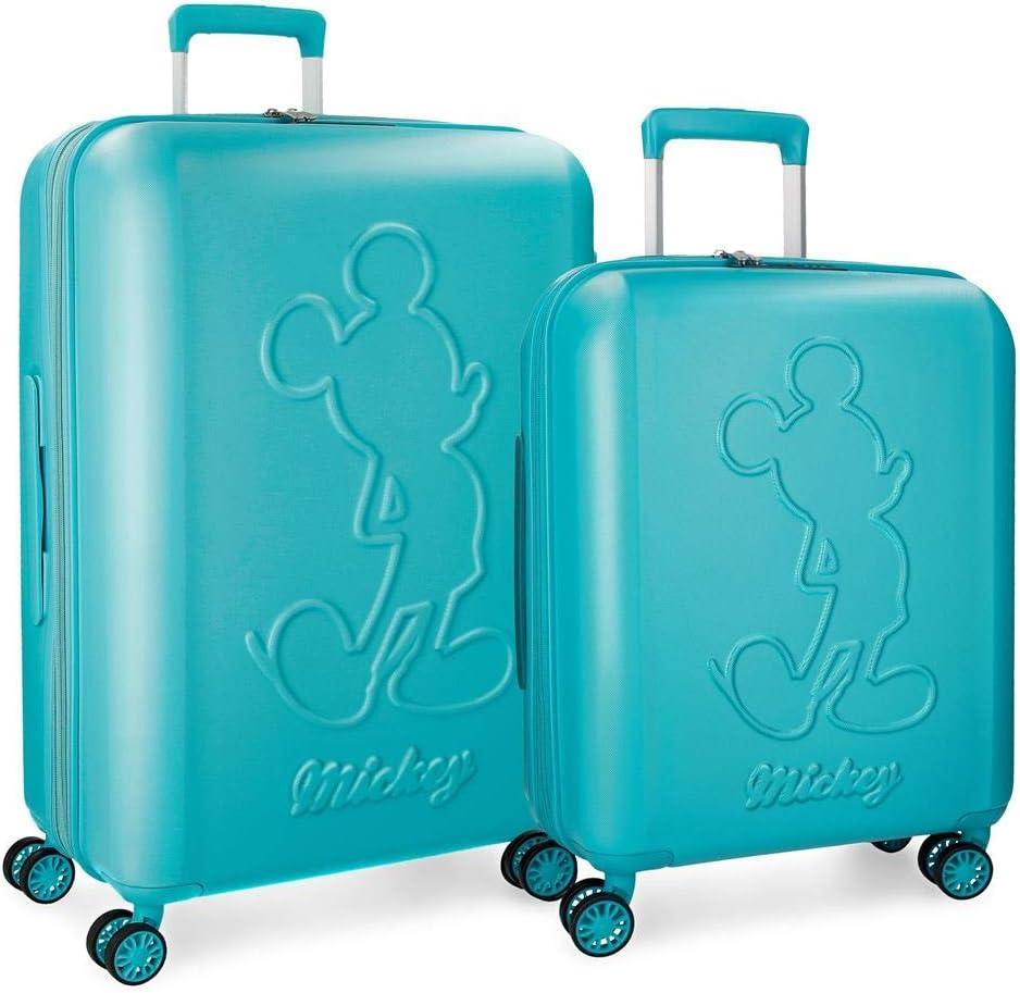 Juego de maletas Mickey Premium rígidas 55-68cm turquesa