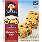 Quaker Chewy Granola Bars, 25% Less Sugar Chocolate Chip, 8 Bars