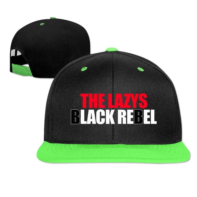 Kaho Adult Hip Hop Cap Adjustable Baseball Cap The Lazys Black Rebel