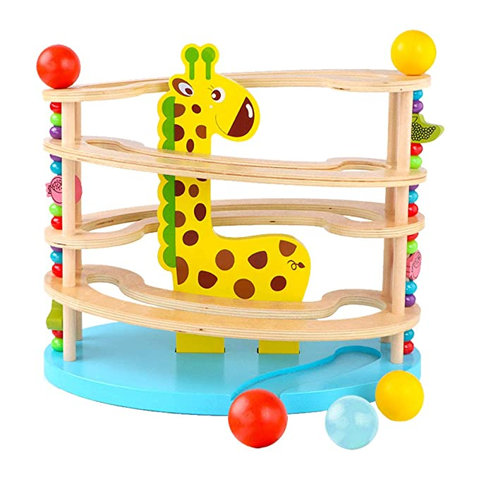 Kugelbahn Giraffe - BeebeeRun Giraffen Kugelbahn