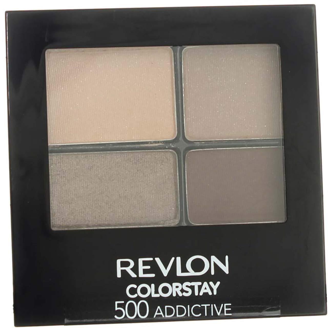 Revlon ColorStay 16 Hour Eye Shadow, Addictive [500] 0.16 oz (Pack of 4)