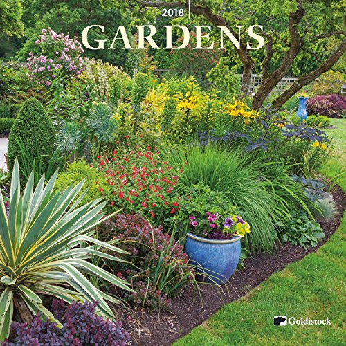 "Goldistock ""Gardens"" Eco-friendly 2018 Large Wall Calendar - 12"" x 24"" (Open) - Thick & Sturdy Paper - Relax Into Natural Garden Beauty"