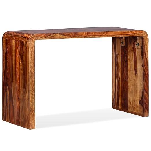 vidaXL Aparador/Escritorio de madera maciza de sheesham marrón ...