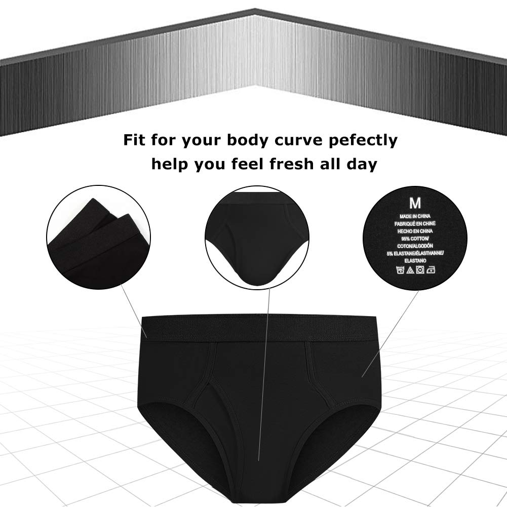 Natural Feelings Mens Briefs Underwear Mens Cotton Classics Briefs Full Rise Mens Underwear Briefs Pack
