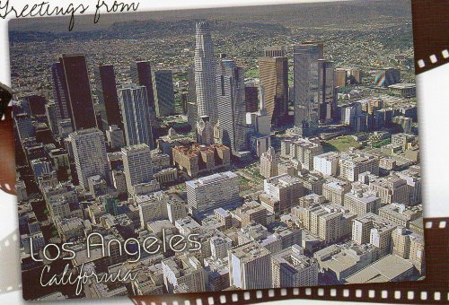 POSTCARD GREETINGS FROM LOS ANGELES CALIFORNIA POST CARD PC57-LOS 071