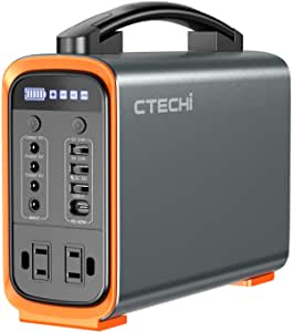 CTECHi Portable Power Station 200W, 240Wh LiFePO4 Battery Backup Power Supply, Fully Charged within 2.5 Hours, PD 60W Quick Charge, Solar Generator for Outdoor Travel Camping Emergency CPAP and Home