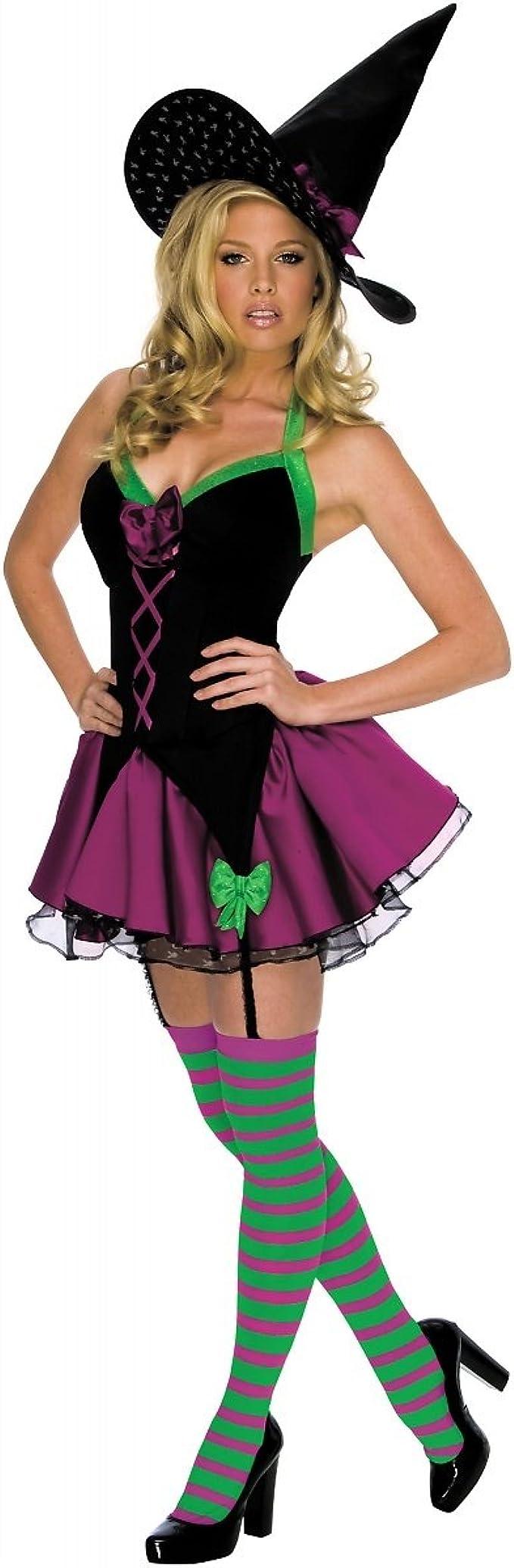 Disfraz de bruja brillante Playboy para mujer - M: Amazon.es ...