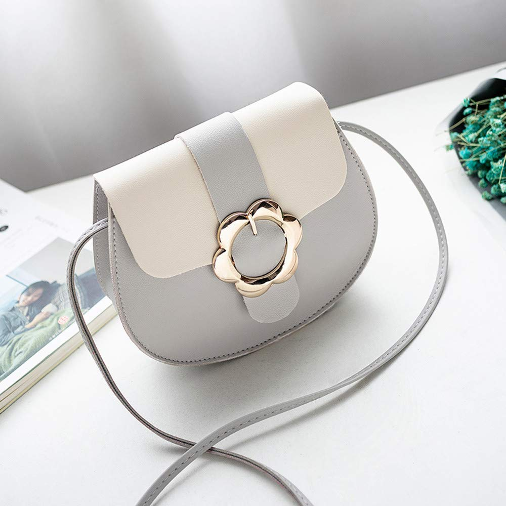 Red NXDA Fashion Messenger Bag Female Candy Color Shoulder Small Backpack Cross Body Mobile Wallet Casual Buckle Bag