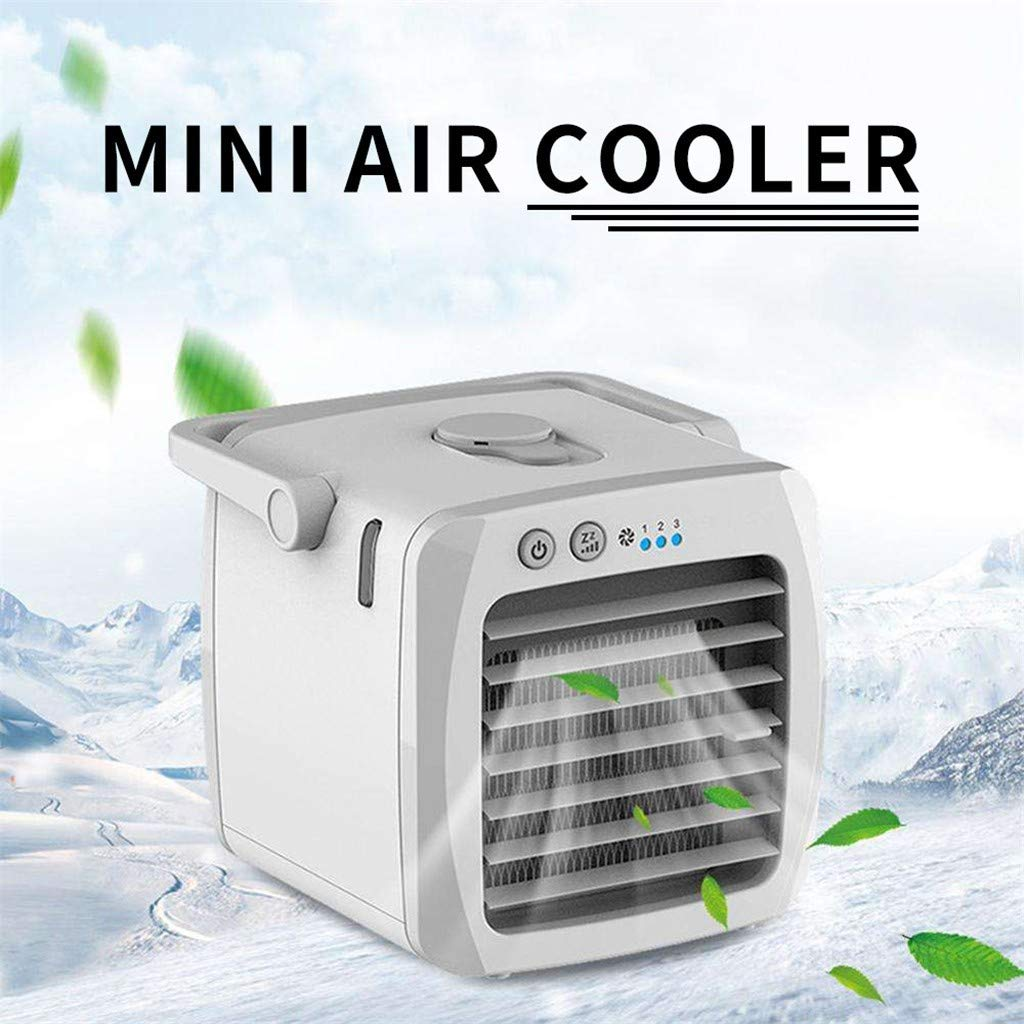 Aire Acondicionado de Carga USB port/átil refrigerador(Gris) Dicomi Aire Acondicionado Mini refrigerador de Aire de Escritorio USB para el hogar