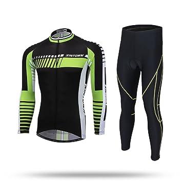 Zsjb XINTOWN Invierno Ropa Ciclismo Hombres Mujeres Primavera Otoño de Largo Jersey Traje Breathable Bicicletas Riding Ropa Ciclismo Jersey Set de ...