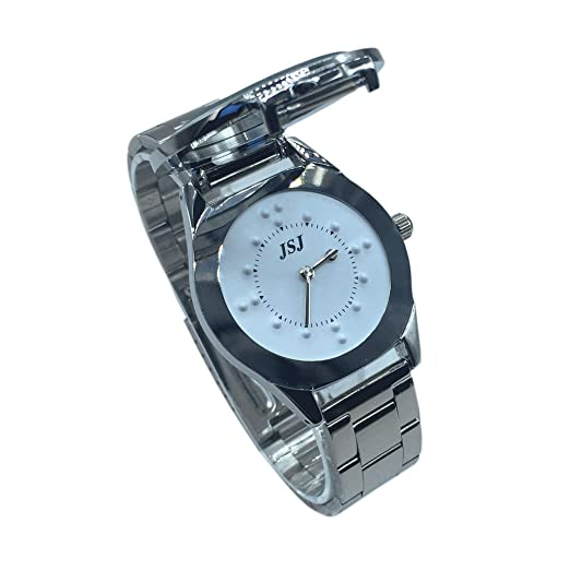 Reloj De Pulsera Braille para Invidentes o Personas Mayores Blanco Dial (para hombre)