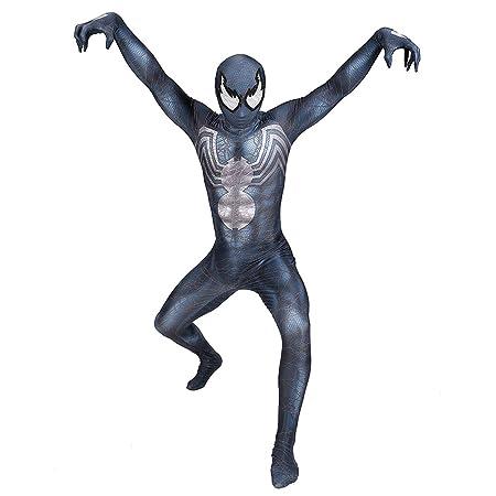 QQWE Venom Spiderman Cosplay Disfraces niños Adultos ...