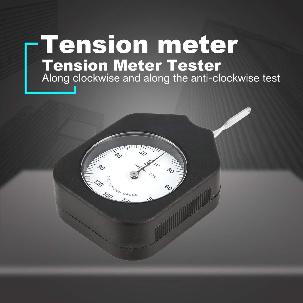 Ballylelly 150g Analog Tensi/ómetro Precio con el Puntero Sola Rueda de tensi/ón del calibrador del Metro Tester Tabular dinam/ómetro Metros tensi/ón Lateral