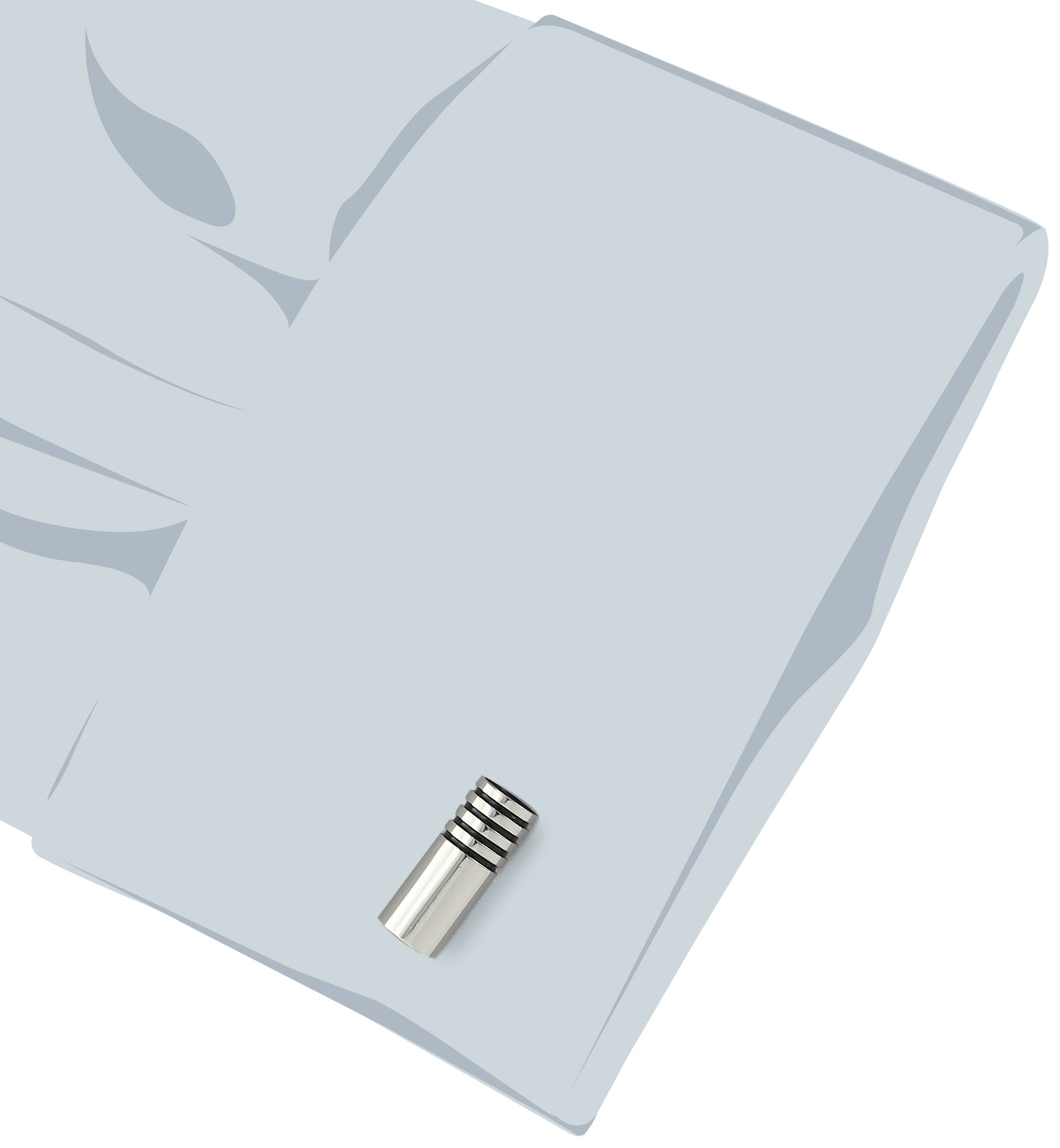 Stacy Adams Men's Barrel Cuff Link With Jet, Silver, One Size by Stacy Adams (Image #2)