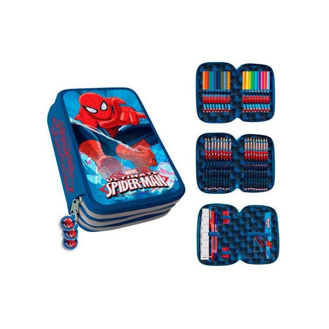 Trousse Garnie 3compartiments Spiderman