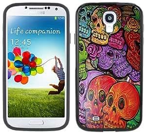 Day of the Dead Dia de los Muertos Handmade Samsung Galaxy S4 Black Bumper Hard Plastic Case
