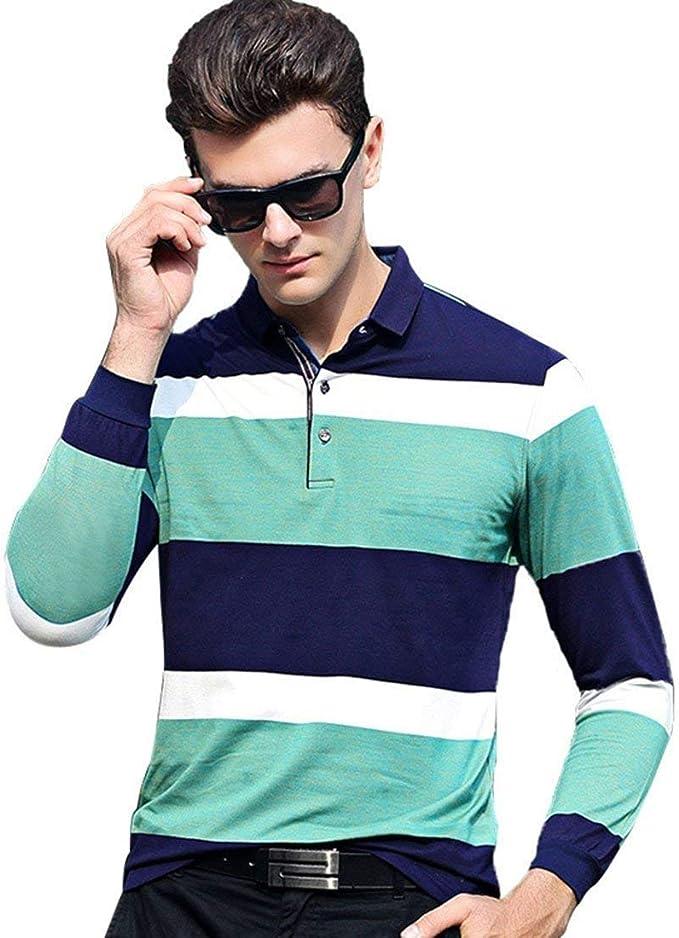 Camisa Polo para Hombre Camiseta Casual Camisetas Larga Moda De ...