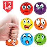 Lot Of 12 Yellow And Black Smile Smiley Face Stress Squeeze Balls US Toy 1903872