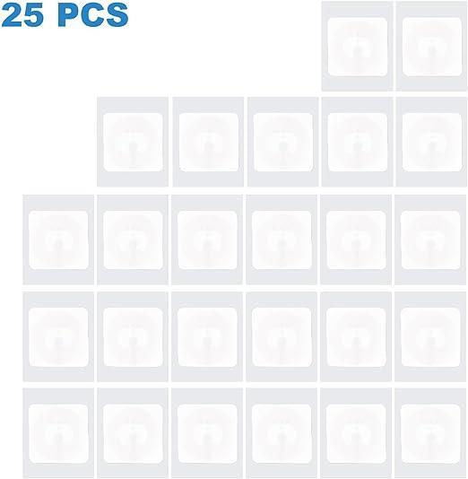 Nfc Tags 25 Stück Selbstklebend Vom Typ Nxp Ntag 215 Nfc Aufkleber Mit 504 Byte Speicher 25mm Durchmesser Beschreibbar Nfc Sticker Von Timeskey Elektronik