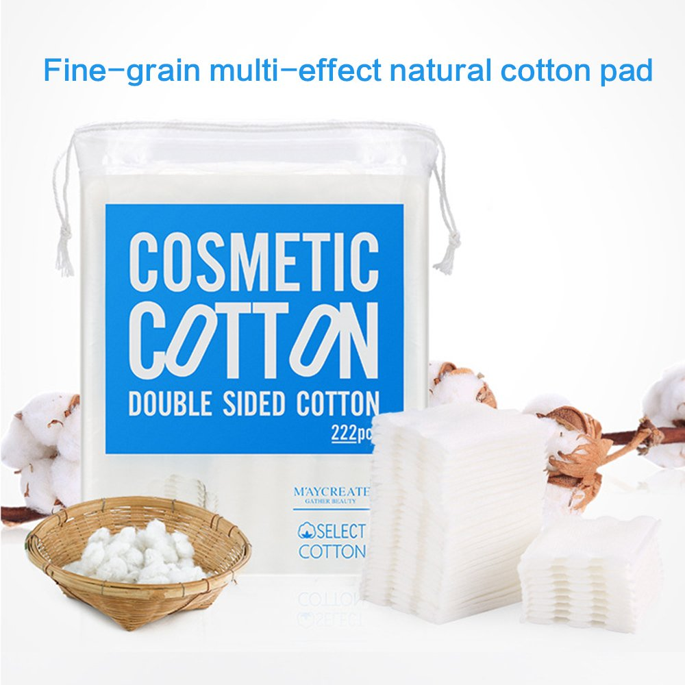 100% natural pure quality essence combed cotton three-layer round face cleansing cotton pad 220 xzm