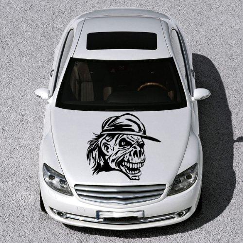 Vinyl Decals for Car Hood Skull Zombie Tattoo Sticker Art Any Vehicle Window Graphics Mural (4825)