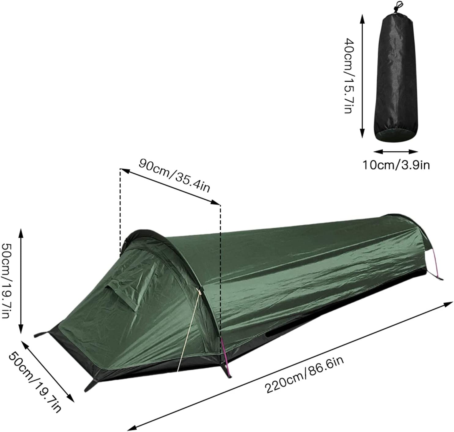 Portable Waterproof Tent for Camping Hiking Lightweight Backpacking Tent with Carry Bag Fltom 1 Person Camping Tent