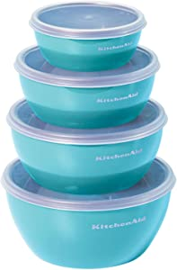 KitchenAid Classic Prep Bowls, Set of 4, Aqua Sky