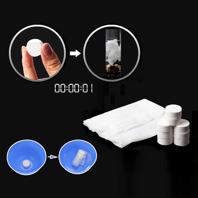 Incutex 8x Tabletten Reinigungst/ücher Trockent/ücher Tabletten Handtuch gepresst Handtuchpillen Erfrischungstuch