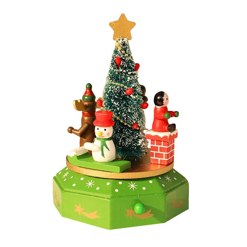 大人気の certainPL 木製オルゴール クリスマス B 子供 ギフト クリスマス クリスマスデコレーション B07K356RWL B07K356RWL B, ネットショップ エムケー:82cc6c96 --- arcego.dominiotemporario.com