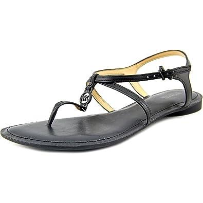 MICHAEL Michael Kors Women's Bethany Sandal Black Vachetta Sandal ...