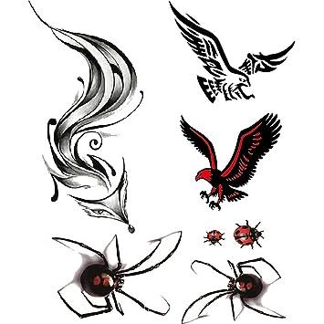 Evtech(tm) 3 Estilo Nuevo Diseño 3D Tatuajes Temporales club ...
