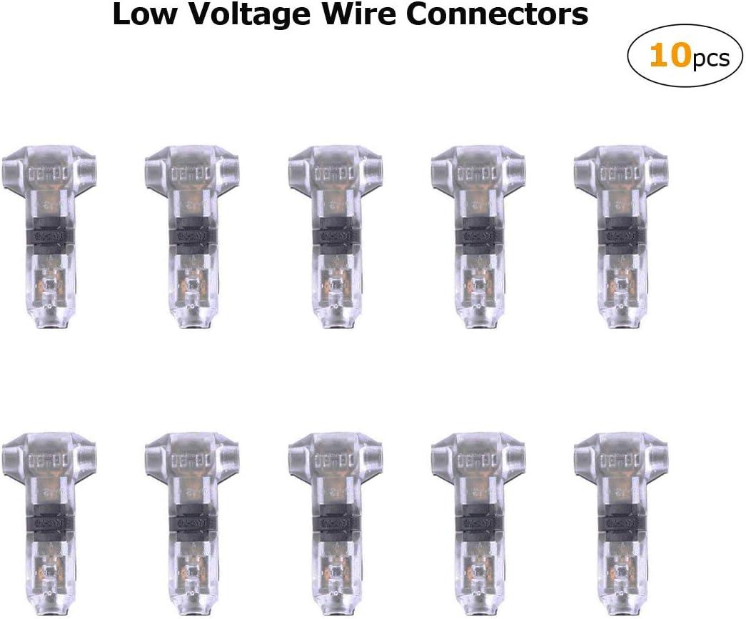 10 pi/èces auto-d/énudant basse tension 2 broches sans soudure pour fil de calibre 20 22 Connecteurs rapides en T