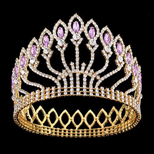 [FUMUD Wedding Bridal Crystal Tiara Crowns Princess Queen Pageant Prom Rhinestone Silver Tiara Headband Wedding Hair Accessories] (Crowns For Queens)