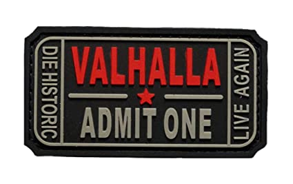 amazon com ticket to valhalla admit one vikings mad max pvc rubber