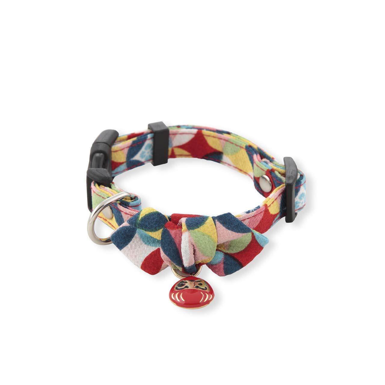 Necoichi Daruma Charm Dog (Collar, Medium, Red) by Necoichi