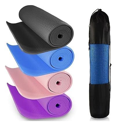 Esterilla para yoga de 6 mm de espesor. De ABS suave, grueso y antideslizante. Para fitness, ejercitarse, fisioterapia, pilates