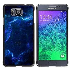 LECELL -- Funda protectora / Cubierta / Piel For Samsung GALAXY ALPHA G850 -- Space --