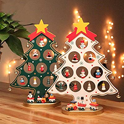 Pixnor – Dibujos animados de madera Árbol de Navidad Regalo para ...