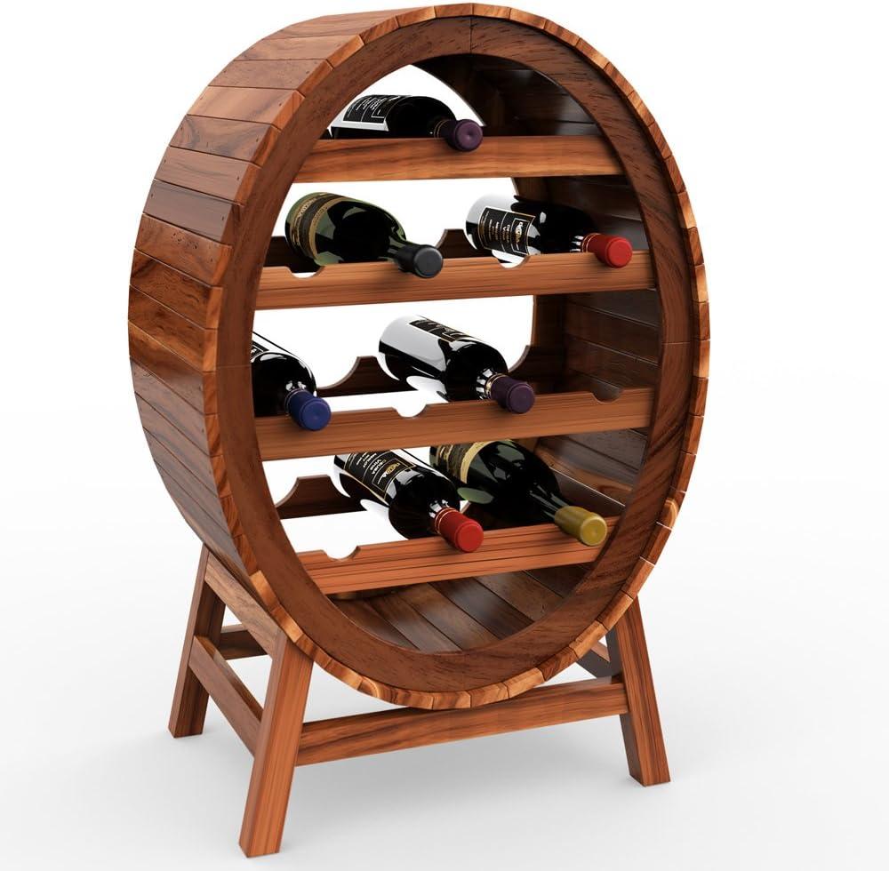 Amazon.de: Deuba Weinregal aus Holz für 15 Flaschen Weinfass