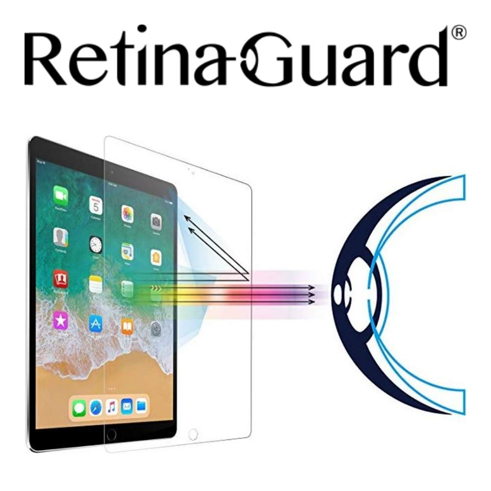 RetinaGuard Anti UV, Anti Blue Light Tempered Glass Screen Protector for iPad Pro 10.5 Inch, SGS and Intertek Tested  Blocks Excessive Harmful Blue Light, Reduce Eye Fatigue and Eye Strain