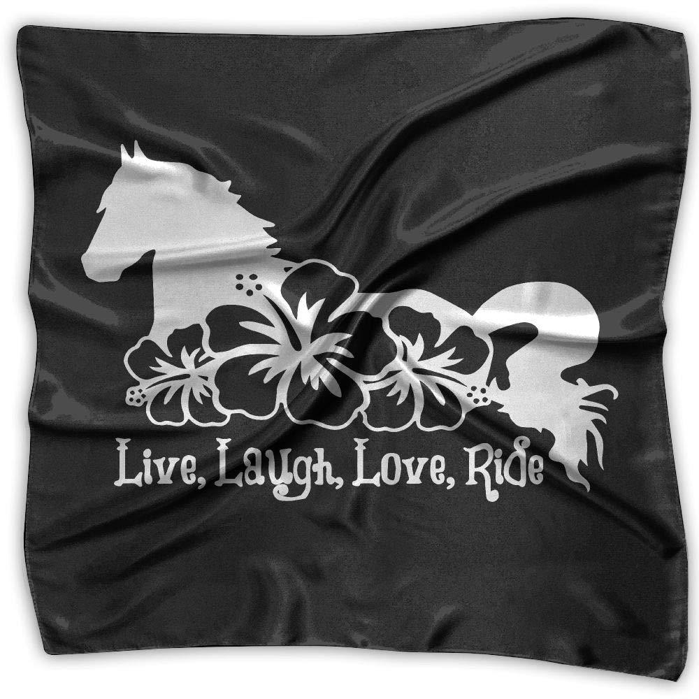 Live Laugh Love Ride Men Women Silky Scarf Handkerchief Bandana Scarves Set