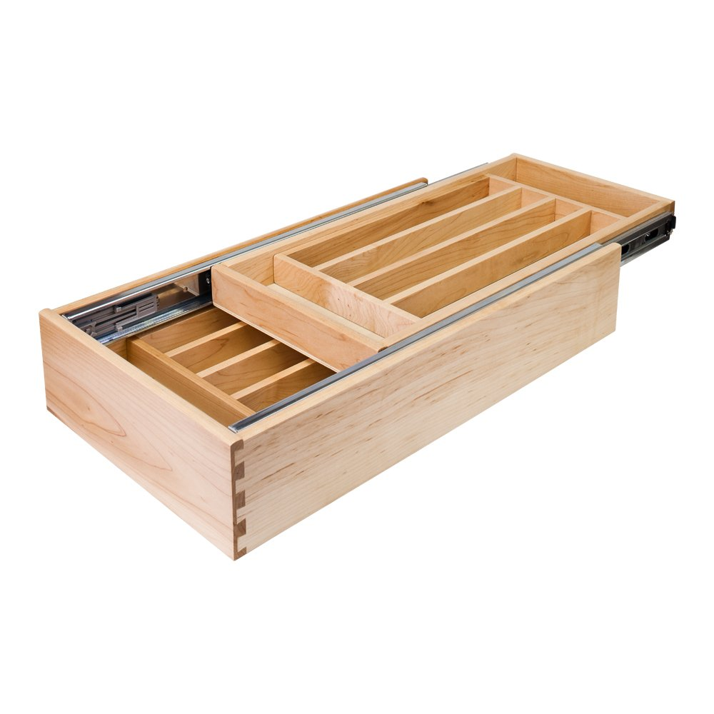 Hardware Resources CD21P Nestled Cutlery Drawer, Birch
