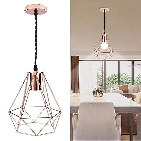 Moderna lámpara de techo con revestimiento de jaula de metal ...
