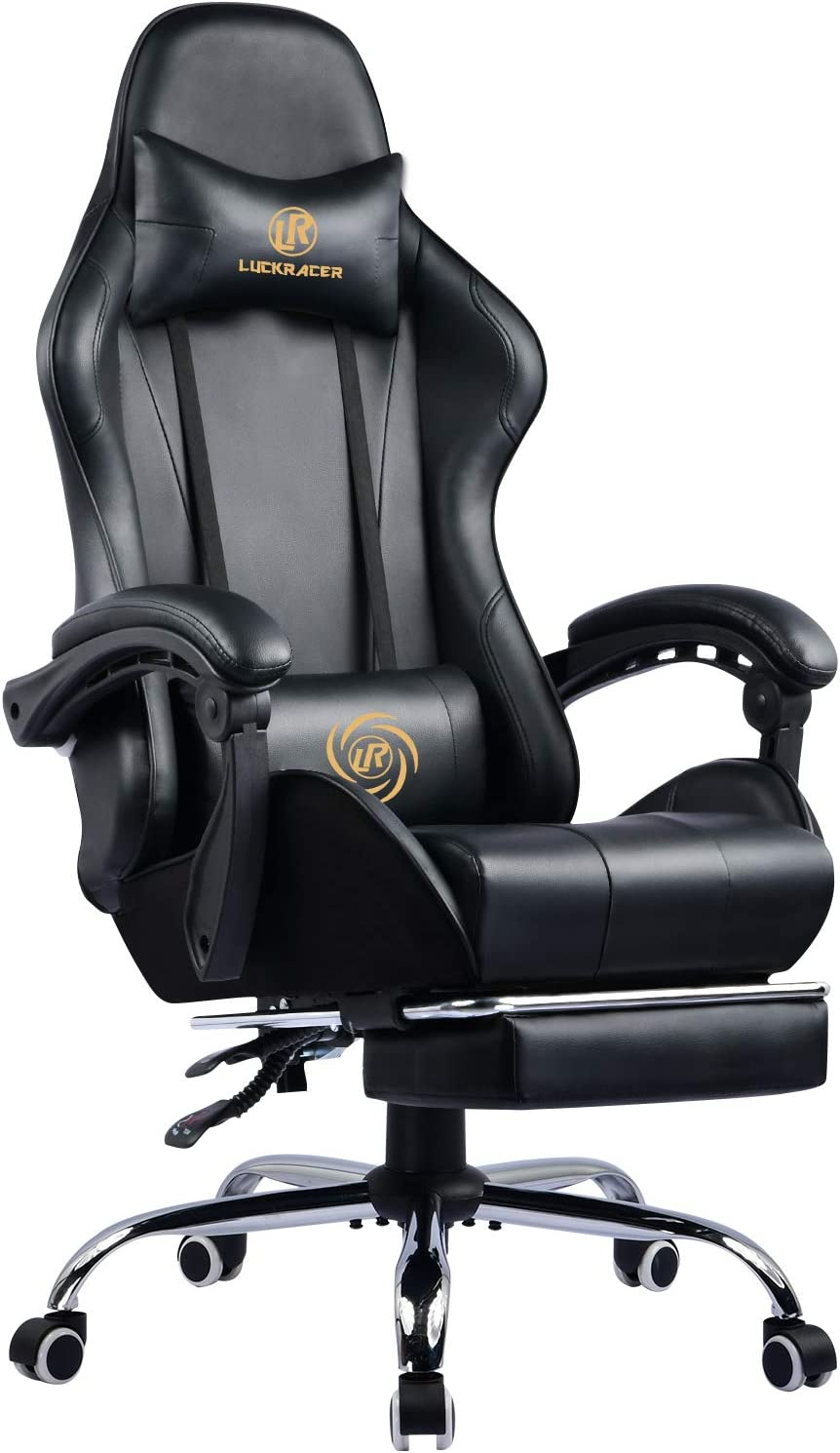LUCKRACER Office Gaming Chair with footrest